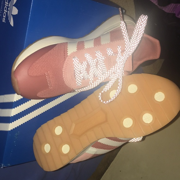newest 87653 5cf27 ... detailing adidas Shoes Price Drop Flashback Raw Pink White Poshmark  2b3c2 2ed6c ...